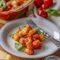 Juustukatte all üleküpsetatud tomatikastmes gnocchid